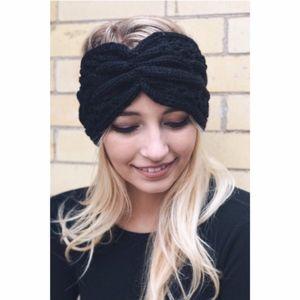 NEW!! Cable Knit Earwarmer Headband BLACK